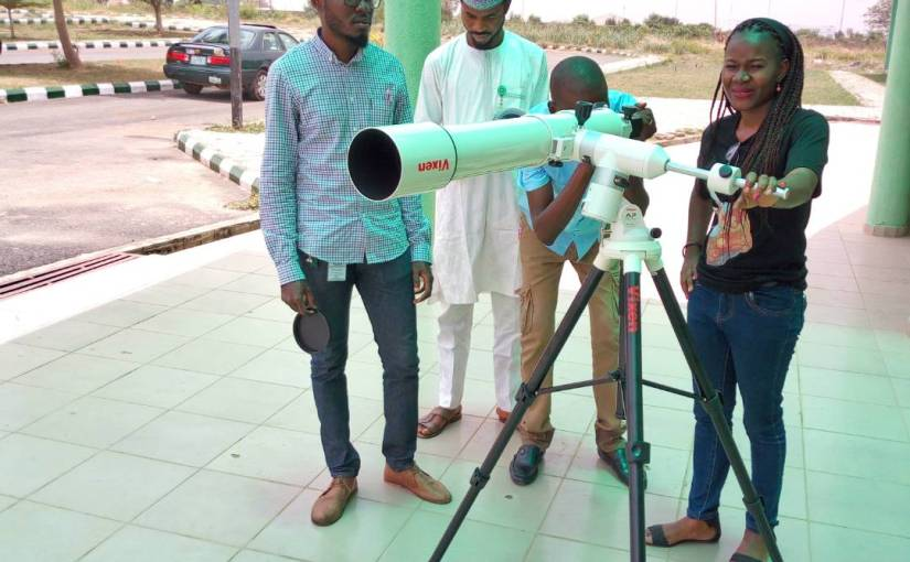 Unveiling the Telescope donated by Vixen Co., Ltd Japan
